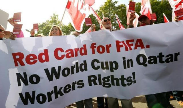labour abuse still rampant in qatar five years after world cup bid rights group