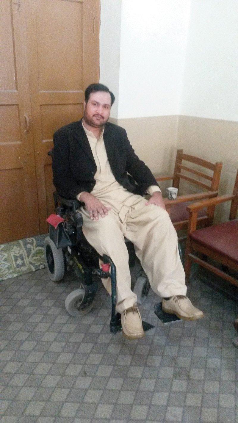 Faraz Mughal at his home in Quetta. PHOTO: EXPRESS