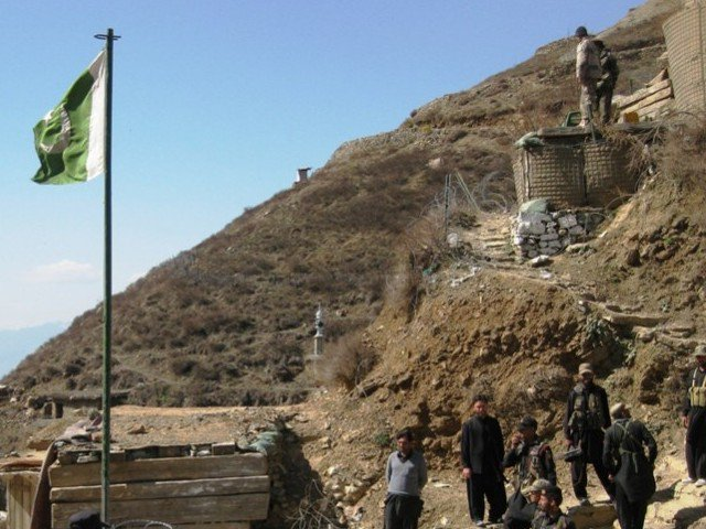 Residents temporarily stop work on KKH realignment near Shatial. PHOTO: EXPRESS