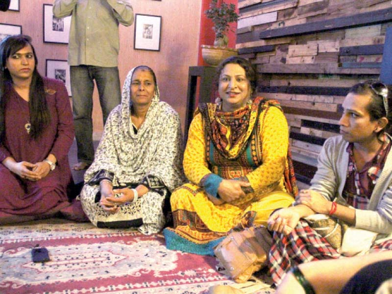 transgender people at a discussion photo ayesha mir express