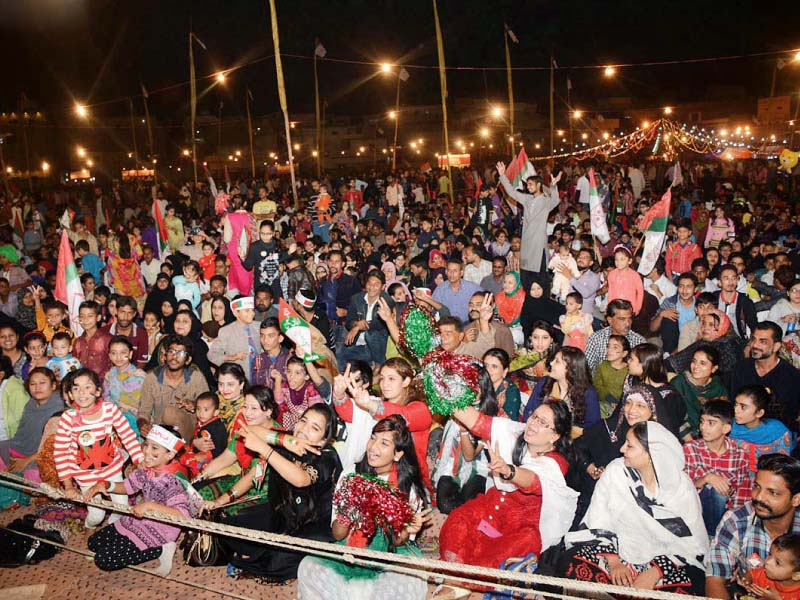 mqm workers gather at nine zero to celebrate the party s success photo online
