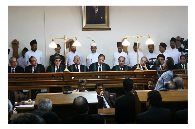 SHC holds full court reference for outgoing Chief Justice Faisal Arab. PHOTO: ONLINE