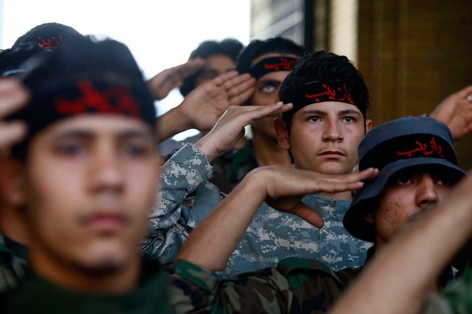 shia fighters stationed in damascus to protect prophet muhammad phub granddaughter 039 s shrine photo reuters