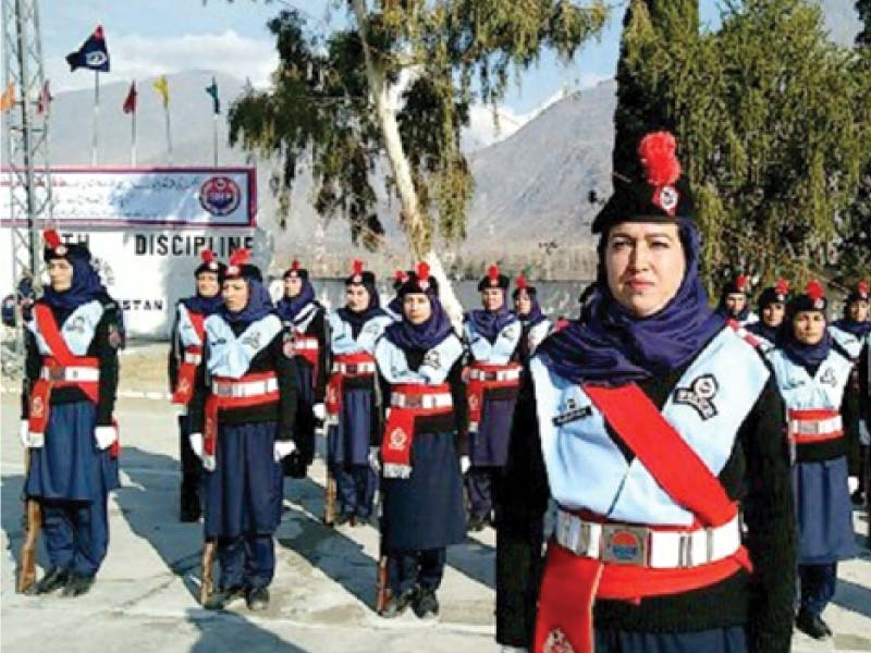 Policewomen at the passing-out ceremony. PHOTO: EXPRESS