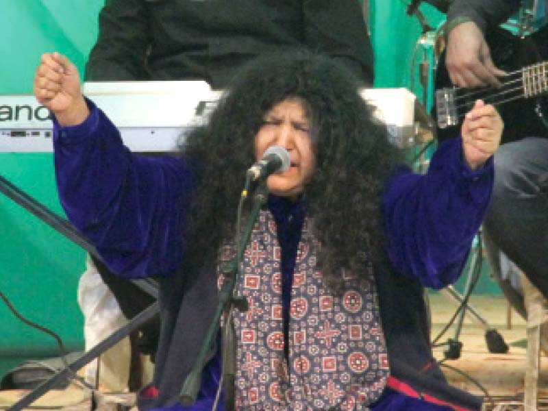 music festival abida s rendition of folk poetry mesmerises audience