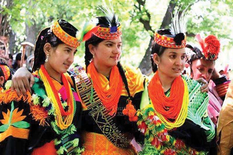 religious zeal residents of kalash valleys celebrate chomos