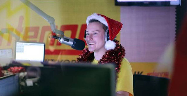 the 27 year old disc jockey barricaded the studio last friday with a wooden stick to play the prank on his listeners photo jewocity