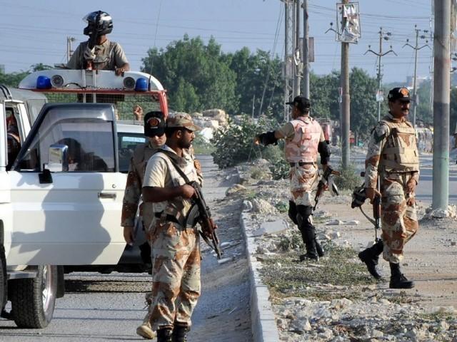 Rangers to focus on thwarting Da'ish re-emergence in Karachi. PHOTO: EXPRESS