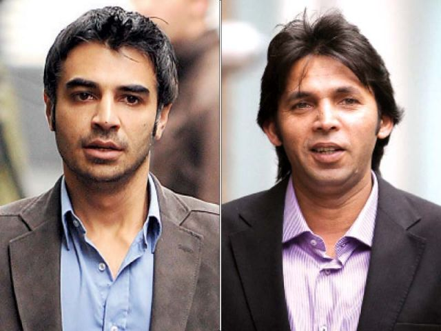 commentator ehtashamul haq has moved court against butt asif and amir photo file