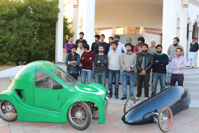 geared up giki students display vehicles made for shell eco marathon