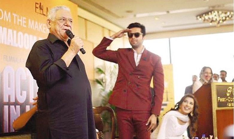 director nabeel qureshi unveils his new project that also marks om puri s pakistani film debut photo publicity