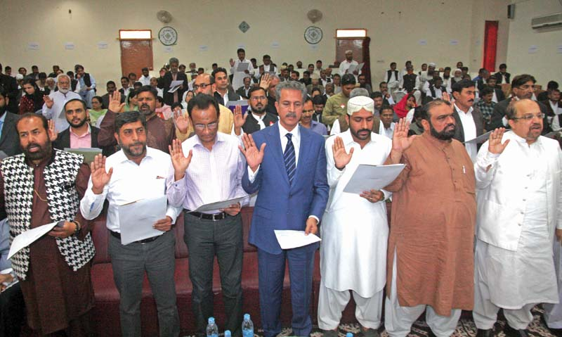with promise of good governance elected lg representatives take oath