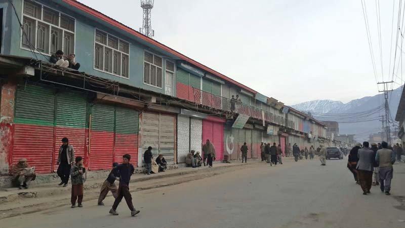 shops closed during strike in chilas photo courtesy mujeebur rahman