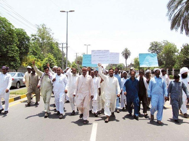 a year of street protests in faisalabad