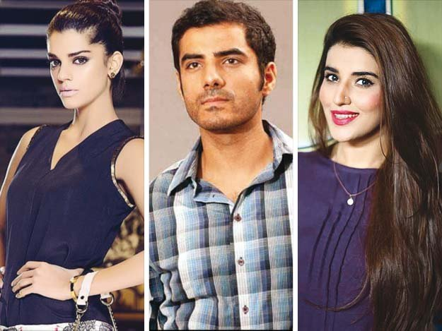 Film stars Sanam Saeed, Adeel Hussain and Hareem Farooq have been roped in for the lead roles. PHOTOS: FILE