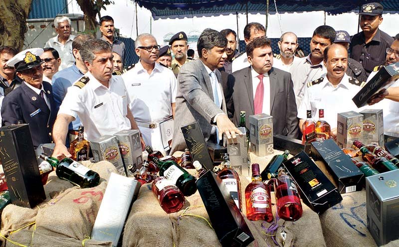 party s over customs foil liquor smuggling bid
