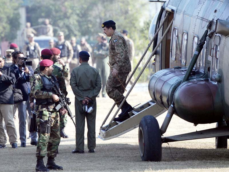 army chief general raheel sharif arrives at the bacha khan university photo afp