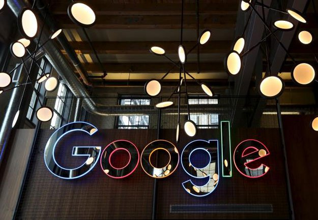 the neon google sign in the foyer of google 039 s new canadian engineering headquarters in kitchener waterloo ontario january 14 2016 photo reuters