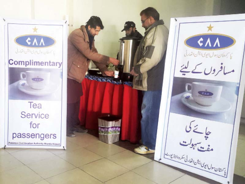 complimentary service passengers served tea in skardu