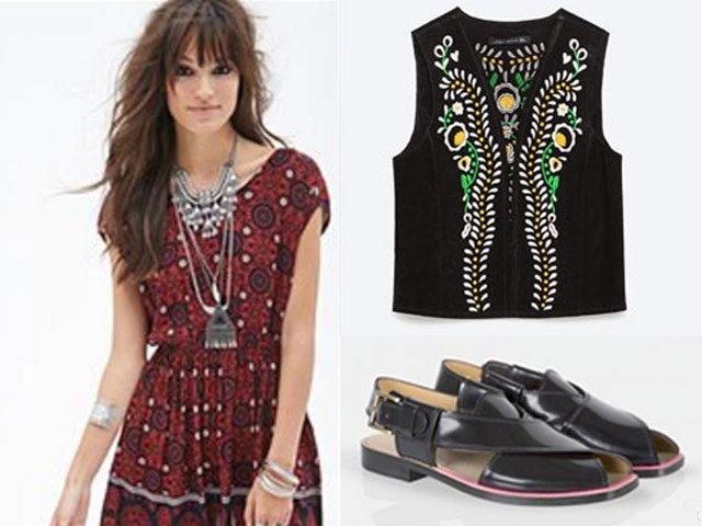 west meets east ajrak dresses and embroidered kotis