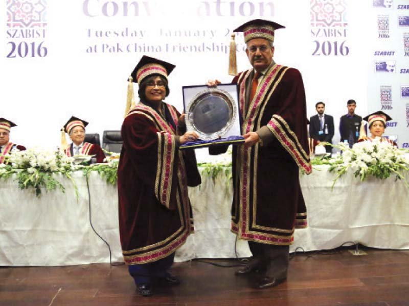 szabist convocation rabbani asks students to achieve their true potential