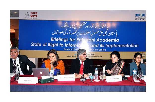 Over 60 academicians from Islamabad, Lahore, Multan and Peshawar participated in the briefings. PHOTO: APP