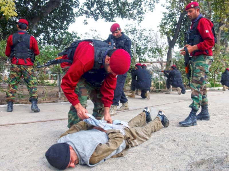off curriculum police commandos conduct mock exercise