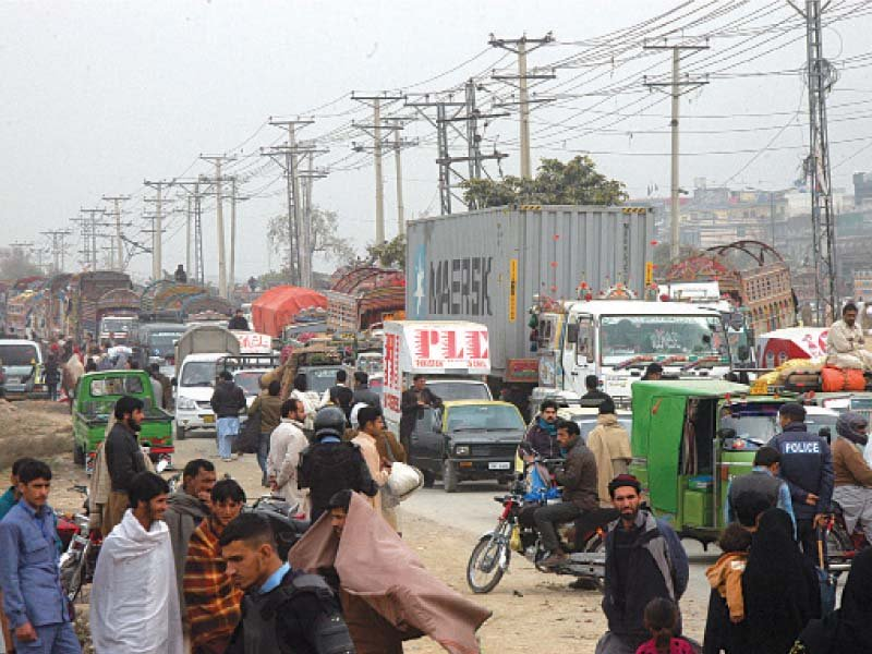ict administration carries out an anti encroachment drive in sabzi mandi photo waseem nazir express