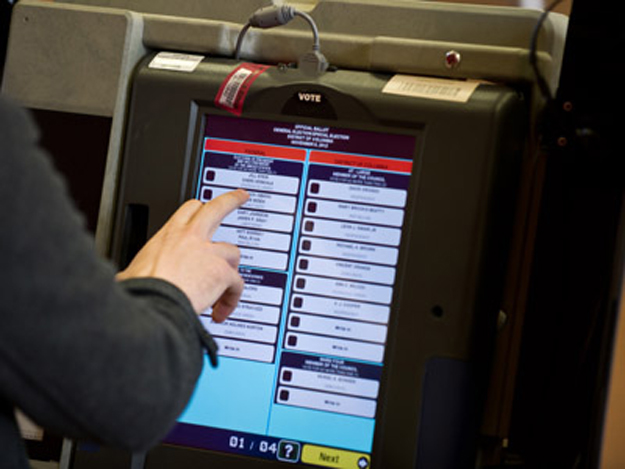 nie carries out successful test run of e voting machine