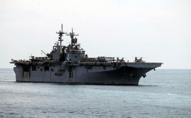 a uss boxer lhd travels at an offshore location in goa october 29 2006 photo reuters