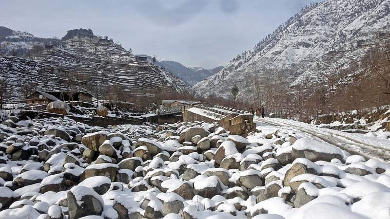 inclement weather life screeches to a halt in chitral abbottabad
