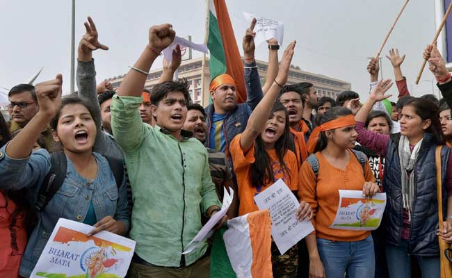 protests in india over student leader s sedition arrest