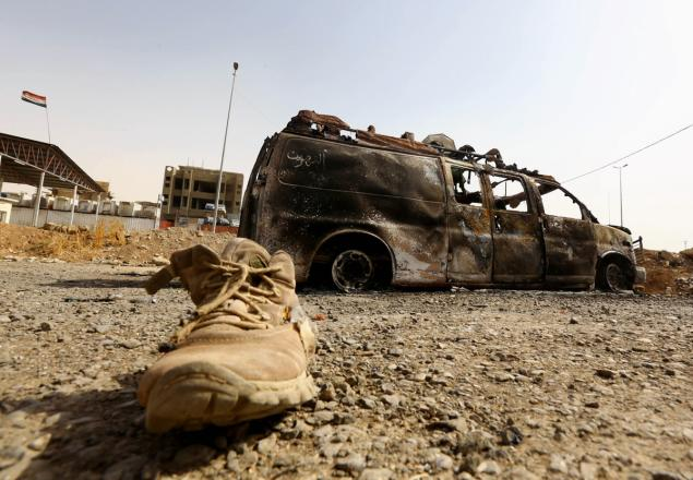 a file photo of aftermath of a bomb attack in an iraq city photo file