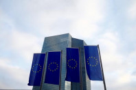 european union eu flags fly in front of the european central bank ecb headquarters in frankfurt germany december 3 2015 photo reuters
