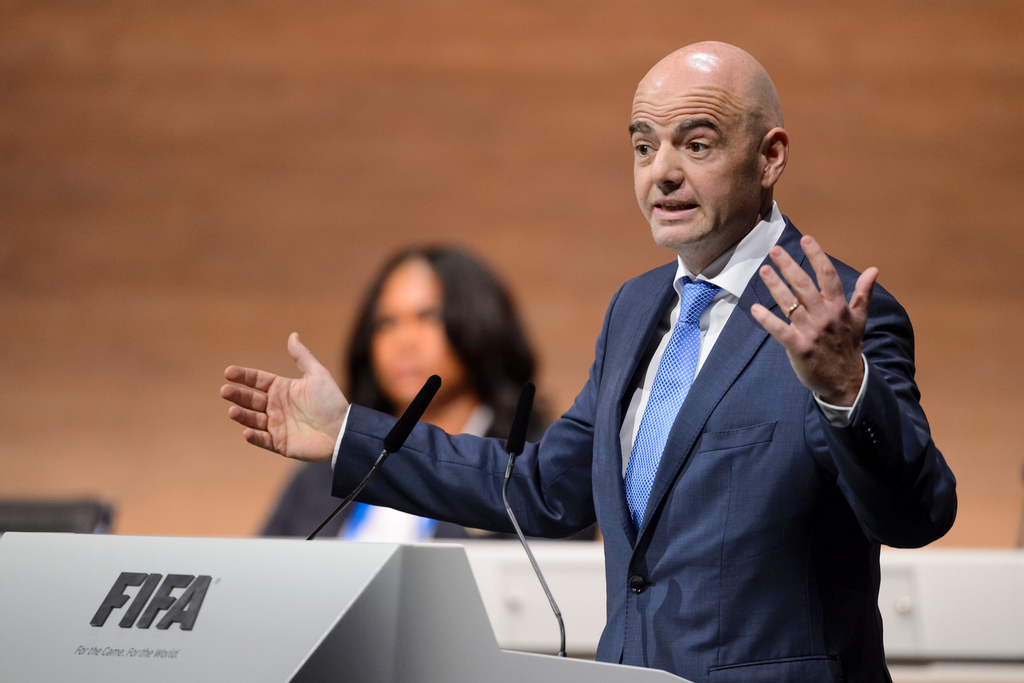 gianni infantino delivers a speech at the fifa electoral congress on february 26 2016 in zurich photo afp