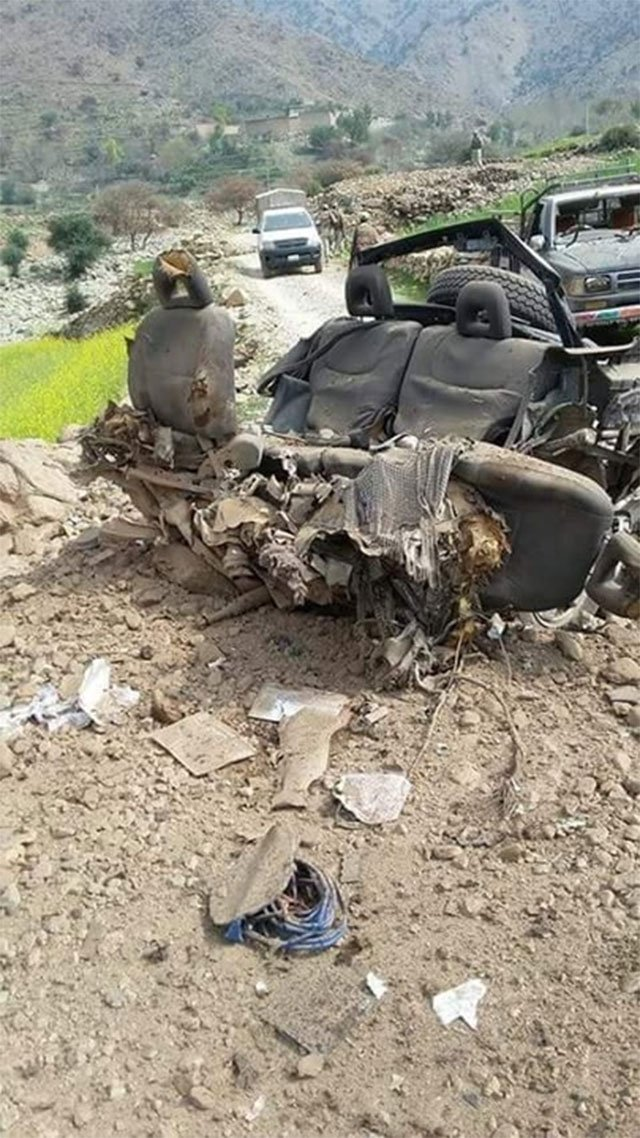 four others injured when their jeep hit an improvised explosive device photo express
