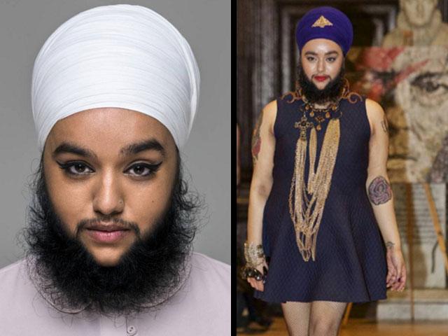 bearded model walks runway gets revenge on her bullies