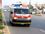A Rescue 1122 ambulance. PHOTO: FILE
