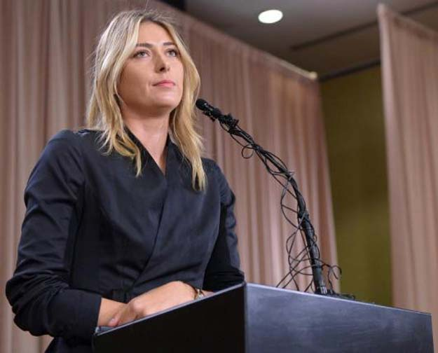 maria sharapova speaks to the media announcing a failed drug test after the australian open during a press conferencein los angeles califonia march 7 2016 mandatory credit jayne kamin oncea usa today sports