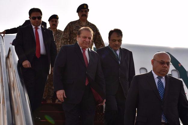 pm army chief arrive in saudi arabia