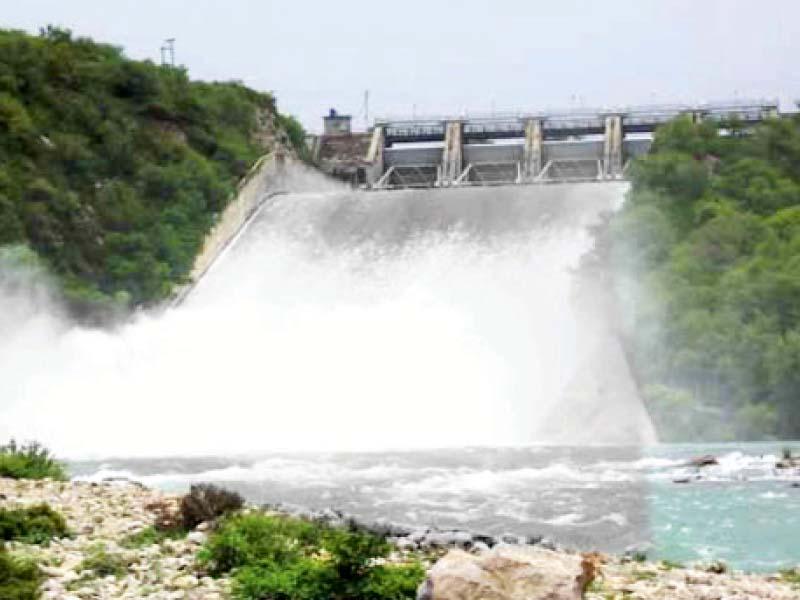 maximum level khanpur dam spillway opened