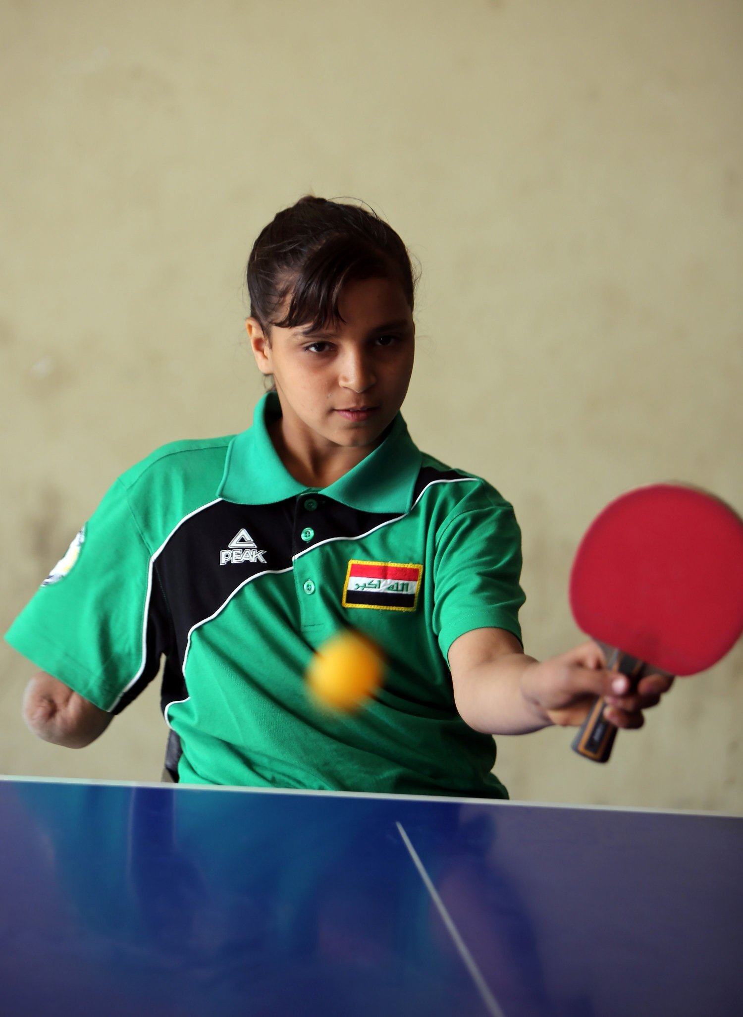 wounded in bombing iraq girl now rising table tennis star