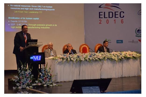 dr atta ur rehman delivers opening keynote on science and innovation imperatives of socio economic development photo fb com eldec2016