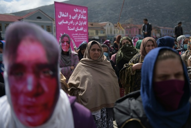 protesters mark one year since mob killing of afghan woman