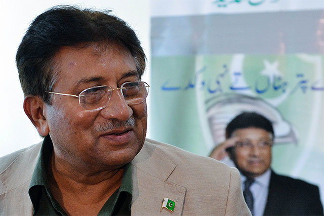 Musharraf have flown by the private airline under the flight number of EK-611. PHOTO: AFP
