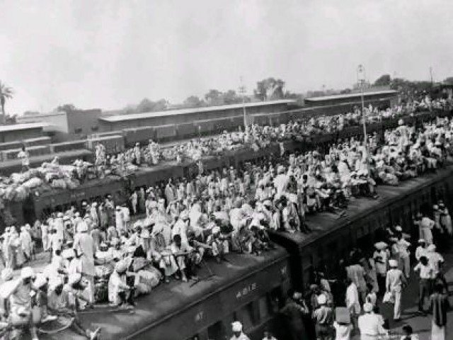 a picture taken in october 1947 shows wagons packed with muslin refugees fleeing to pakistan by train in the border city of amritsar at the start of the first india pakistan war october 1947 december 1948 photo afp