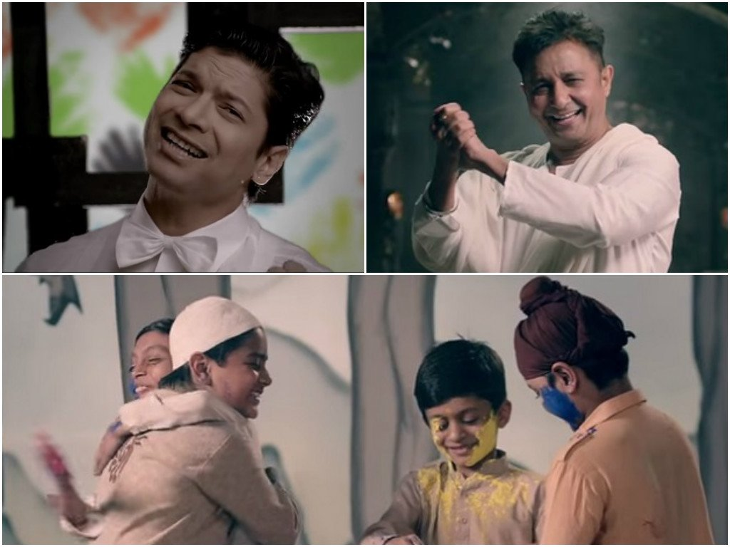 shaan sukhwinder come together to celebrate unity on holi