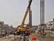 Construction site of Orange Line Metro Train. PHOTO: NNI