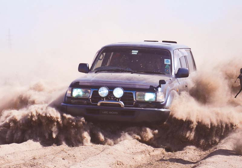 off road rally 38 racers cruise in ravi bed
