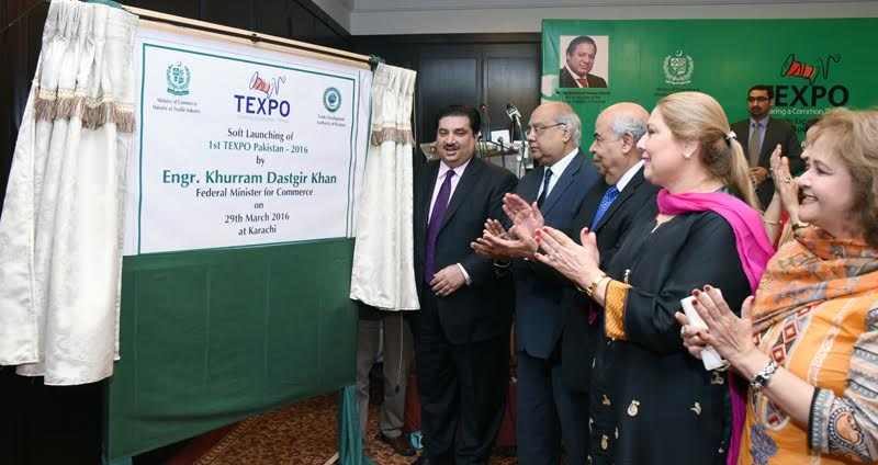 launching texpo 2016 govt to hold 120 exhibitions this year in different countries